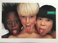 UNITED COLORS OF BENETTON,PHOTO BY OLIVIERO TOSCANI RARE AUTHENTIC 1990'S POSTER