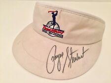 Rare Payne Stewart autographed Payne Stewart Vacations golf visor