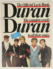 Duran Duran Official Lyric Book - Complete Words To All Songs, 1984 (W/ Poster