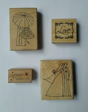 Wedding Stamp Lot Love Engagement Invite Save  Date Scrapbook Announcement EUC