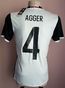 Denmark2016 Away football Adidas shirt#4 Agger