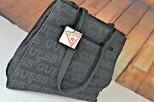 NEW Guess Women's Handbag Retro Spell Out Black Tote $65 Cute