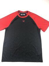 Warrior Performance Black Dry Fit Ss Shirt Small Lacrosse Hockey