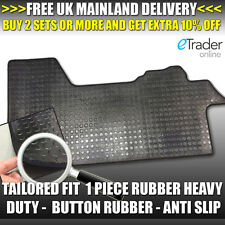 Black Rubber Floor Mats Peugeot Boxer Van 2007-2015 Tailored Quality Mat Durable