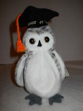 "TY BEANIE BABY ORIGINAL ""WISER OWL, CLASS OF 1999"", W/CAP & TAGS, GOOD!"