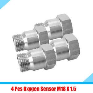 4Pcs M18 X 1.5 Car SUV O2 Oxygen Sensors Adapter 7/8 Hex Head Extender Universal
