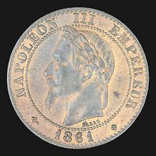 France : 2 centimes 1861 BB / Napoléon III tête laurée :(franco de port)