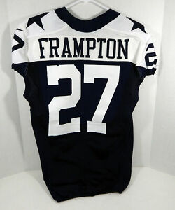 2012 Dallas Cowboys Eric Frampton #27 Game Issued Navy Jersey Thanksgiving TB 42
