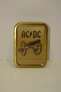 AC/DC For Those About To Rock Cannon Cigarette Tobacco Storage 2oz Tin
