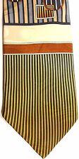 "Bruno Rossi Men's Silk Tie 59"" X 4"" Multiple Color Abstract"