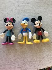 "4"" tall Walt Disney World Resort bendable Mickey, Donald & Minnie Mouse figures"