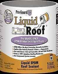 American Motorhome RV  Liquid Roof EPDM Roof Coating 1 us quart