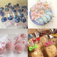 100*/set Clear Party Gift Chocolate Lollipop Favor Candy Cello Bags Cellophane v