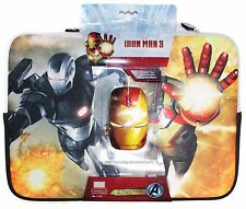 """SAKAR Marvel IRON MAN 3 Neoprene 14"""" NOTEBOOK SLEEVE+USB OPTICAL MOUSE Avengers"""