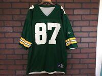 Robert Brooks Green Bay Packers Rare Reversible Reebok Jersey men's sz 52 XL