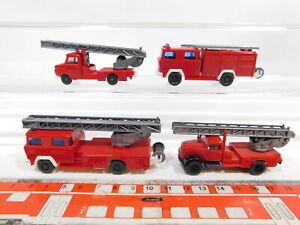 CG368-0, 5 #4x wiking H0 / 1:87 Fw / Fire Brigade: Ladder Opel +610/620 Magirus,