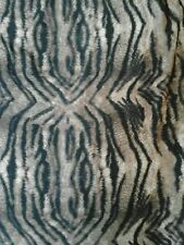 "Animal Zebra Printed JERSEY VISCOSE Stretch Fabric Material  60"" width BROWN"