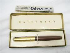 Vintage Waterman's Art Deco Fountain Pen w/Box 14K Gold Ideal Firm Nib