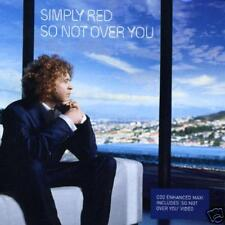 SIMPLY RED So Not Over you 2 MIXS & VIDEO UK CD single