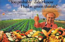 1995 Wendy's Fast Food restaurant~ Print Ad~Salads/Farmer, David Thomas
