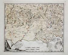 1789 Preussen Polen Poland Pommern Masuren Masuria Torun Kolorierte Kupfer Karte