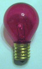 1 Transparent Pink Marquee/Sign/Amusement Park/Party/Patio Light Bulb E17 Base