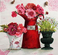 SHABBY Chic Quadro Targa con decoupage.vases. affascinante CUCINA. PIASTRA in legno