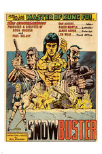 MASTER OF KUNG FU action figure POSTER 24X36 COMIC STRIP adventure NEW