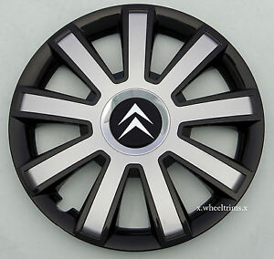 """Set of 4x15"""" wheel trims to fit Citroen C3,C4,C5,Picasso (NOT RELAY VAN)"""