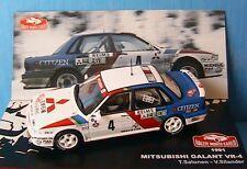 MITSUBISHI GALANT VR-4 #4 RALLYE MONTE CARLO 1991 SALONEN SILANDER IXO 1/43