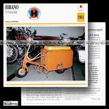 #073.18 Scooter HIRANO 50 VALMOBILE 1961 Fiche Moto Motorcycle Card
