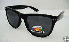 POLARIZED All Black Large Sunglasses FREE SHIPPING USA