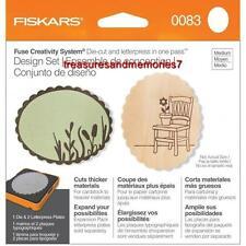 Fiskars Fuse Creativity Design Set 0083 SCALLOP OVAL Die Cut & Letterpress