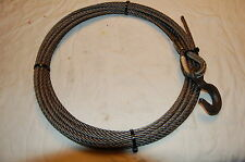 """3/8"""" X 50 Winch Cable Fiber Core with 1-1/2 Ton Cm Hook for Wrecker and Tow"""