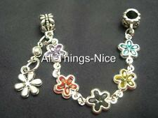5mm Hole FLOWER Bead Charm European Bracelet Decorative Safety Chain Jewellery