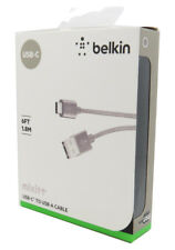 New Belkin mixit USB-C to USB-A Cable 6FT / 1.8 M Grey For Samsung S9 / S9+ S8