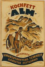 Original Plakat - ALM Kochfett - Butterhaltig, Böckly Carl