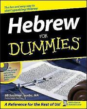 Hebrew For Dummies by J.S. Jacobs (Paperback, 2003)