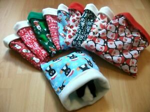 LARGE CHRISTMAS FLEECE SNUGGLE POUCH  BED BAG GUINEA PIG HEDGEHOG CUDDLECUP