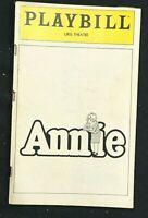 BROADWAY PLAYBILL - Dec 1981 - ANNIE - Marcia Lewis / Mike Nichols b1