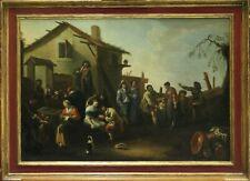 PIETRO DOMENICO OLLIVERO (1679 - 1755) / OLIO SU TELA / FIDANZAMENTO SULL'AIA