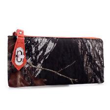 Mossy Oak Camo Zip Wallet Wristlet, Ladies Camouflage Orange