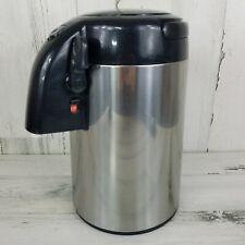 Vtg Tiger Japan Thermal Air Pot Pump Carafe Coffee Pot Stainless Steel PNL-B22P