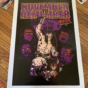 ECW November to Remember 1995 Limited Poster Print by A. Boston #19/20 Funk Sabu