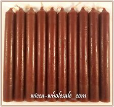 """10 BROWN MINI 4"""" CANDLE MAGICK CANDLES (Spell Altar Chime Wicca Pagan Ritual)"""