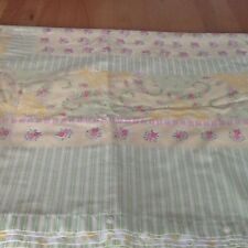 curtains vintage shabby chic yellow and green