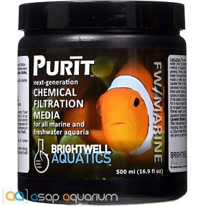 Brightwell Aquatics Purit 500mL Aquarium Filter Media Carbon and Resin Blend