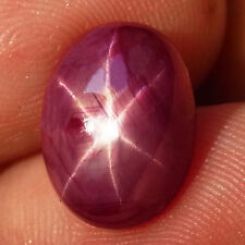 7.5ct. NATURAL 6 RAYS TOP BLOOD RED STAR RUBY MADAGASCAR 13X10MM.