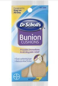 Dr. Scholl's Bunion Cushions-Dual Cushioning Layer-Reduces Shoe Friction-6ct