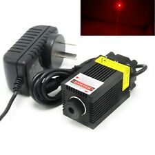 650nm 250mW Focusable Dot Red Laser Diode Module 12V Adapter LED Positioning